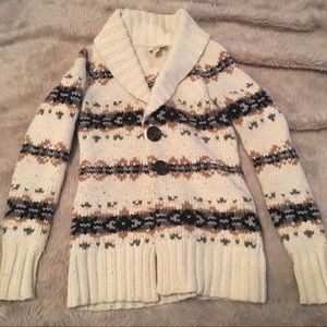cozy cream knit cardigan